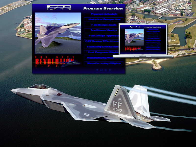 Lockheed F-22 Presentation To U.S. Congress