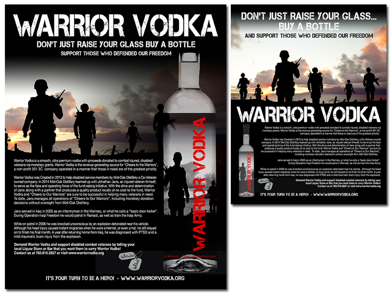 Warrior Vodka Magazine Advertising