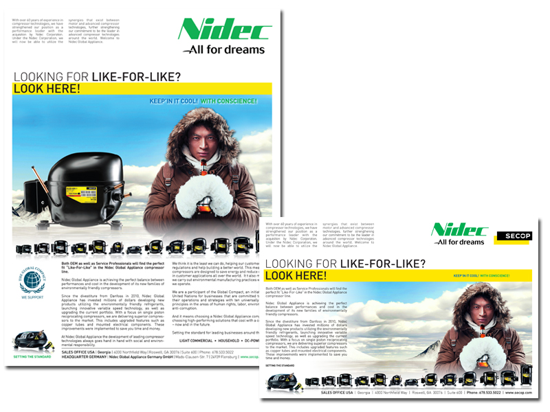 Nidec SECOP Print Advertising