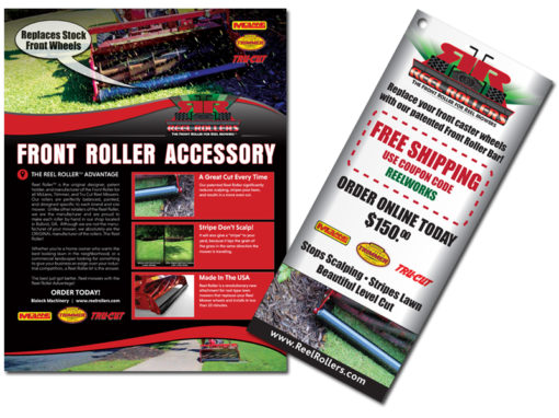 Reel Roller Sales Brochure & Product Hanger