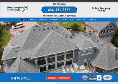 First Georgian Roofing Website